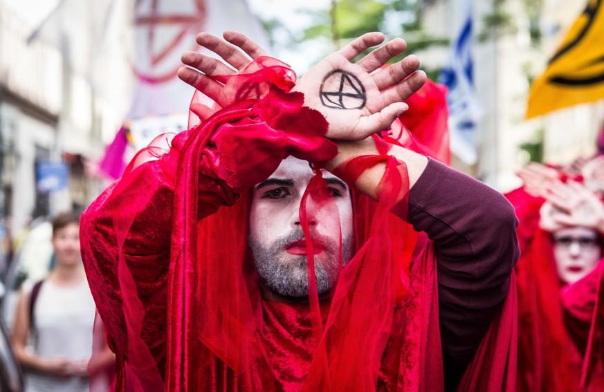 Extinction Rebellion startet Protest in Berlin
