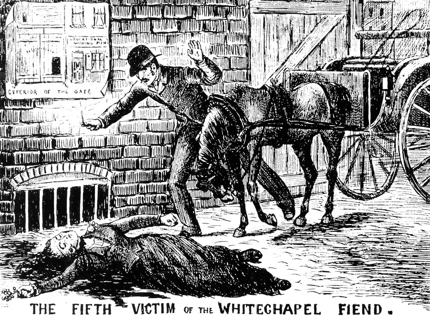 Bildnummer: 59955078  Datum: 01.01.1900  Copyright: imago/United Archives International The fifth victim of the Whitechapel murderer Jack the Ripper kbdig 1900 quer 1880 s 1880s 1888 Body Corpse Discovery Victorian London rescan  PUBLICATIONxINxGERxSUIxAUTxONLY    59955078 Date 01 01 1900 Copyright Imago United Archives International The Fifth Victim of The Whitechapel murderer Jack The Ripper Kbdig 1900 horizontal 1880 S 1880s 1888 Body Corpse Discovery Victorian London  PUBLICATIONxINxGERxSUIxAUTxONLY
