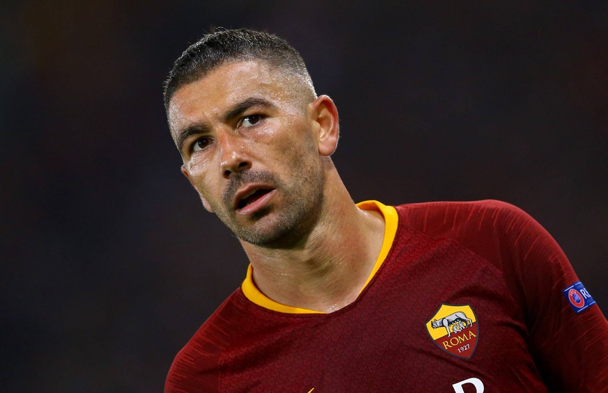 October 2, 2018 - Rome, Italy - AS Roma v Viktoria Plzen : UEFA Champions League Group G.Aleksandar Kolarov of Roma at Olimpico Stadium in Rome, Italy on October 2, 2018. AS Roma v Viktoria Plzen - UEFA Champions League Group G PUBLICATIONxINxGERxSUIxAUTxONLY - ZUMAn230 20181002_zaa_n230_866 Copyright: xMatteoxCiambellix