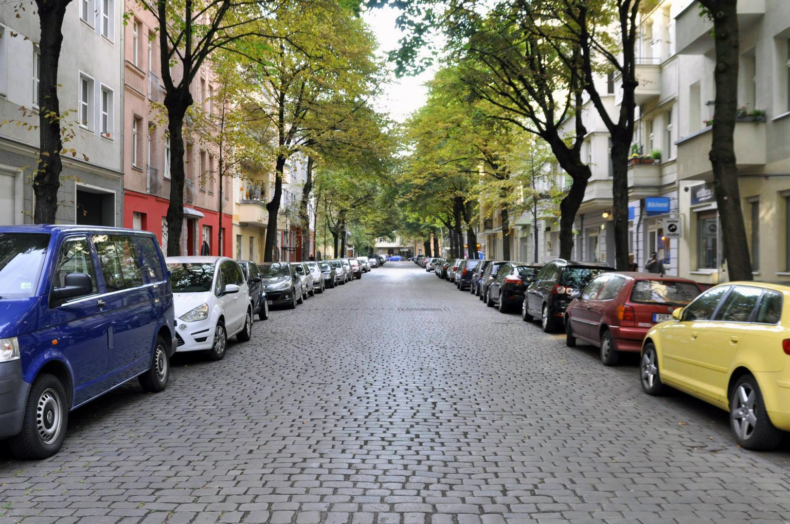 European cars on the streets of Berlin.