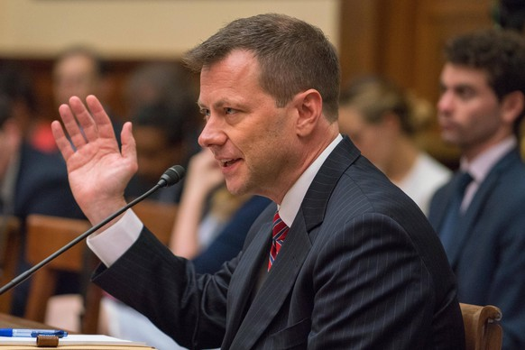 July 12, 2018 - Washington, DC, UNITED STATES - Deputy Assistant FBI Director Peter Strzok testifies on Capitol Hill during a Joint House committee hearing in Washington, D.C. July 12, 2018. Strzok is testifying on actions taken by the FBI and Department of Justice during the 2016 Presidential election. Washington UNITED STATES PUBLICATIONxINxGERxSUIxAUTxONLY - ZUMAc206 20180712_zap_c206_008 Copyright: xKenxCedenox