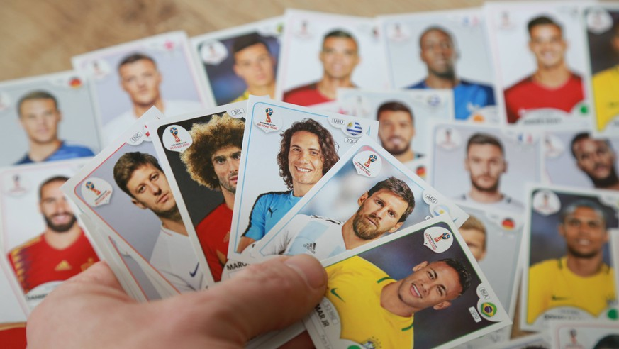 Panini Sammelbilder - Fussball WM 2018 Messi, Neymar, Boateng, Neuer, Cavani,.. *** Panini Collectibles Soccer World Cup 2018 Messi Neymar Boateng New Cavani