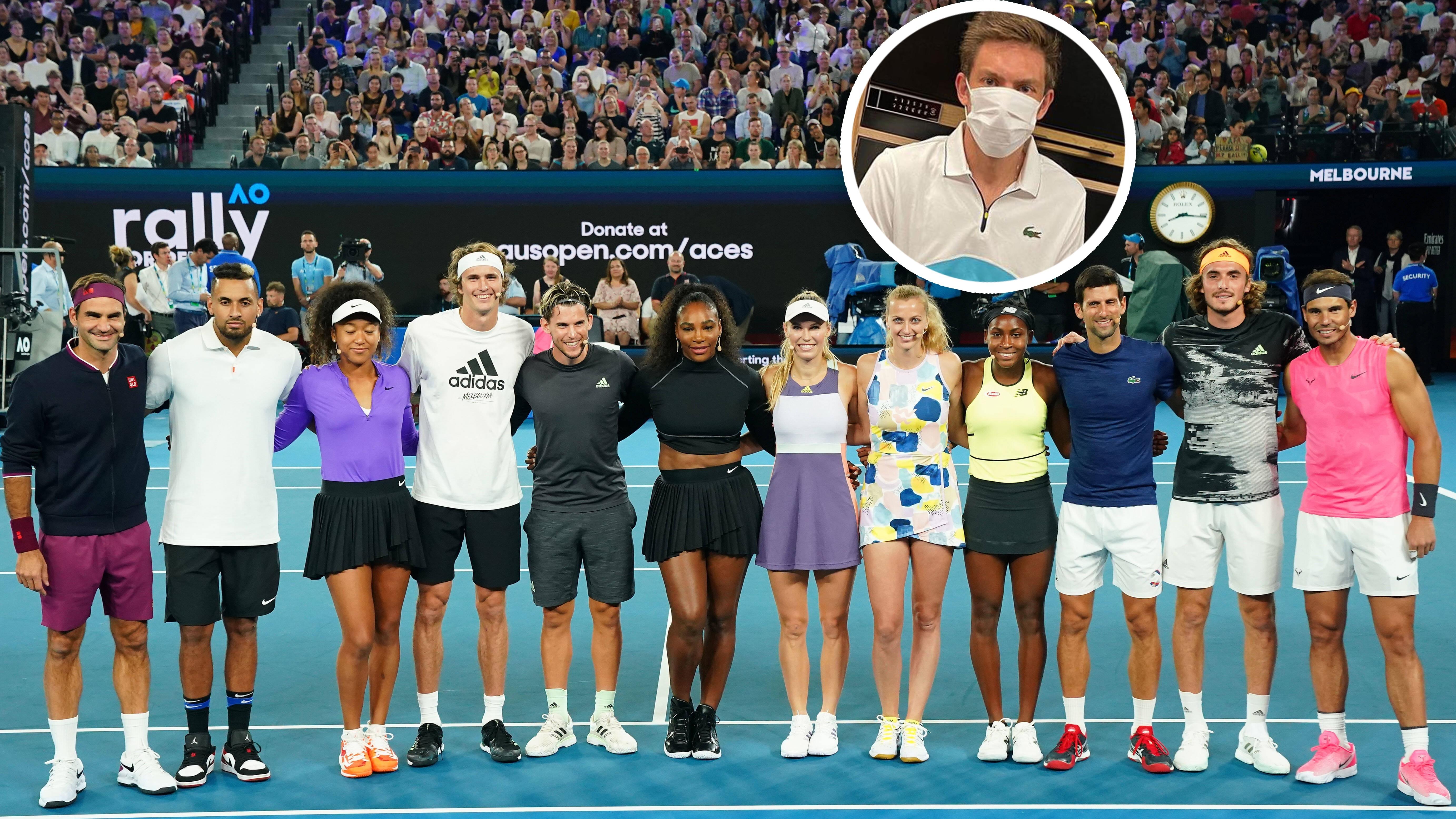 Australian Open: Tennis-Stars reagieren mit Galgenhumor und Spenden-Show auf Buschbrände