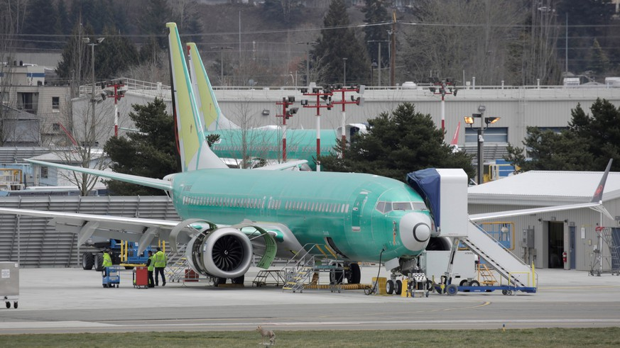 Boeing 737 MAX aircraft are parked at a Boeing production facility in Renton, Washington, U.S. March 11, 2019. REUTERS/David Ryder