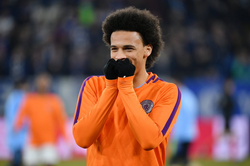 xuhx Gelsenkirchen, Veltins Arena, 20.02.19, Champions League: FC Schalke 04 - Manchester City Bild: Leroy Sane (Manchester) DFL regulations prohibit any use of photographs as image sequences and/or quasi-video. Gelsenkirchen *** xuhx Gelsenkirchen Veltins Arena 20 02 19 Champions League FC Schalke 04 Manchester City Picture Leroy Sane Manchester DFL regulations prohibit any use of photographs as image sequences and or quasi video Gelsenkirchen Hufnagel PR