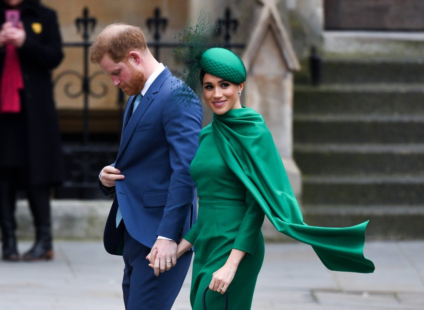 Commonwealth Day 2020 The Duke and Duchess of Sussex arriving at the Commonwealth Day Service, Westminster Abbey, London. Picture credit should read: Doug Peters/EMPICS PUBLICATIONxINxGERxSUIxAUTxONLY Copyright: xDougxPetersx 51241793