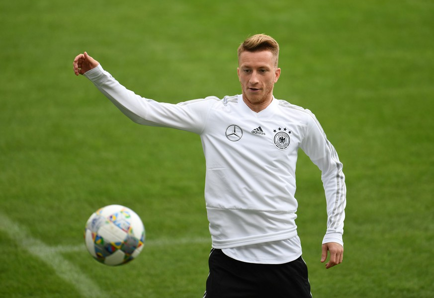 Soccer Football - UEFA Nations League - Germany Training - FC Bayern Campus, Munich, Germany - September 4, 2018   Germany's Marco Reus during training   REUTERS/Andreas Gebert