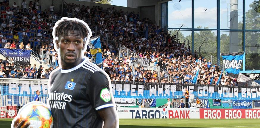 Zweifel an Identität: So feiern die HSV-Fans ihren Bakery Jatta im DFB-Pokal