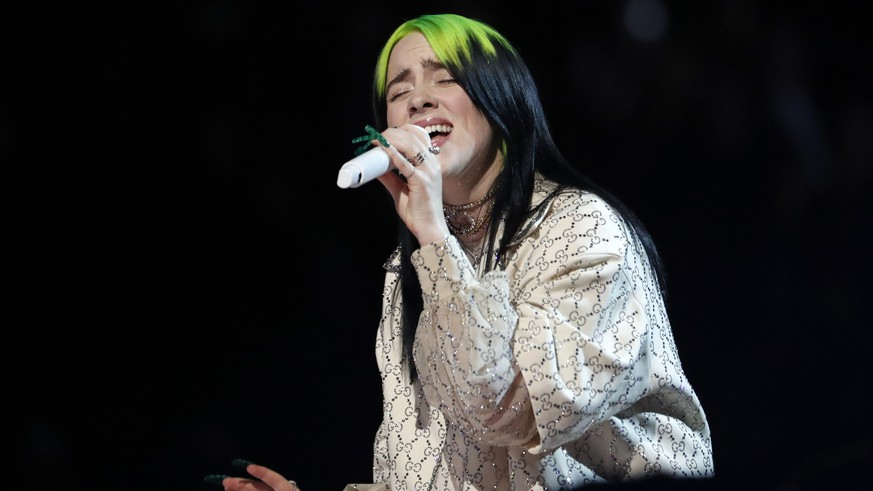 62nd Grammy Awards - Show - Los Angeles, California, U.S., January 26, 2020 - Billie Eilish performs. REUTERS/Mario Anzuoni