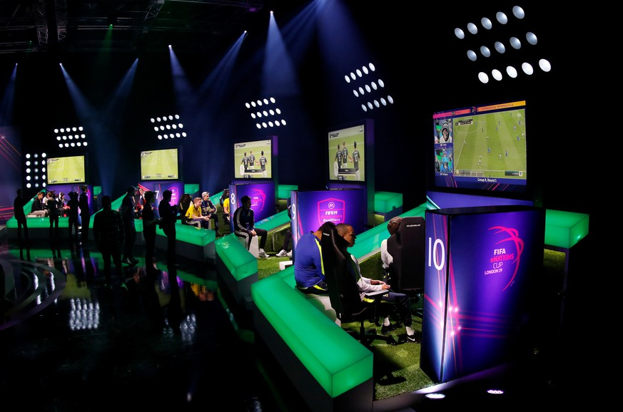 Esports - The FIFA eNations Cup - Maidstone, Kent, Britain - April 13, 2019   General view during day one   REUTERS/Tom Jacobs