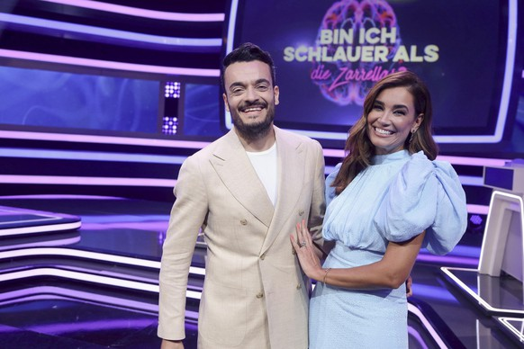 Giovanni e Jana Ina Zarella queriam saber se eles eram mais espertos do que os alemães na RTL.