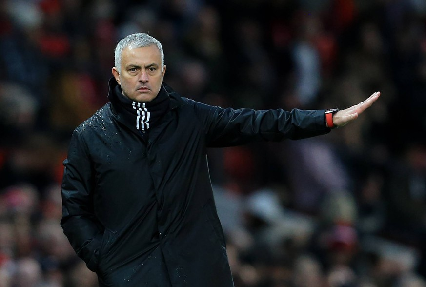 Manchester United ManU manager Jose Mourinho gestures during the Premier League match at Old Trafford, Manchester. Picture date: 8th December 2018. Picture credit should read: Matt McNulty/Sportimage PUBLICATIONxNOTxINxUK SPI21MMMANUFUL.JPG