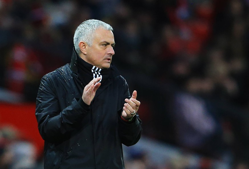 Manchester United ManU manager Jose Mourinho applauds during the Premier League match at Old Trafford, Manchester. Picture date: 8th December 2018. Picture credit should read: Matt McNulty/Sportimage PUBLICATIONxNOTxINxUK SPI_102_MM_MANU_FUL.JPG