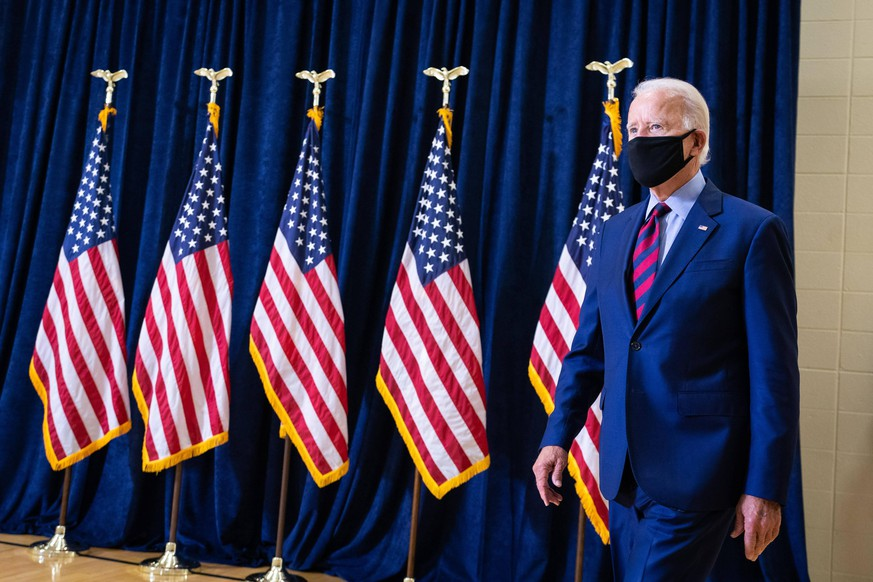 September 4, 2020 - Wilmington, Delaware, USA - Democratic presidential nominee JOE BIDEN holds a press conference discussed the economy, Israel, and President s alleged remarks about fallen soldiers. Wilmington USA - ZUMAz03_ 20200904_sha_z03_843 Copyright: xAdamxSchultzx