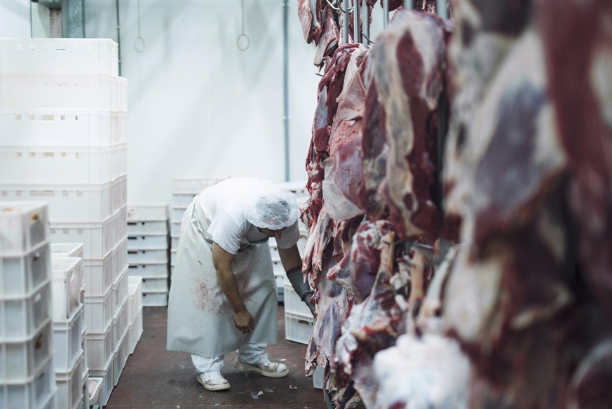 Meat handling and distribution to the market.
