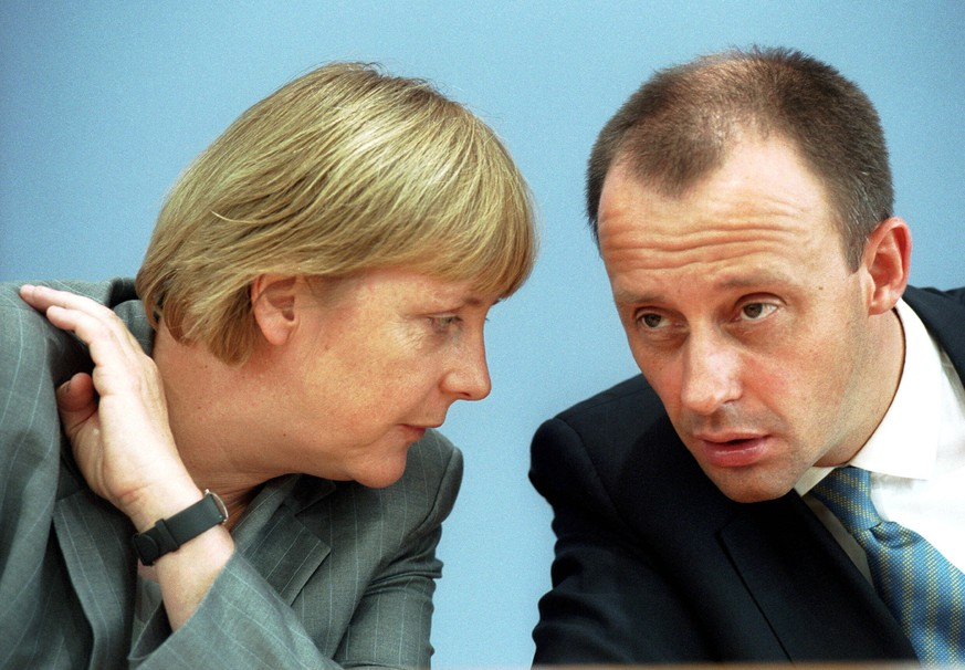 Angela Merkel unf Friedrich Merz 21.6.2002 CDU Berlin Berlin Berlin Deutschland Germany *** Angela Merkel and Friedrich Merz 21 6 2002 CDU Berlin Berlin Berlin Germany Germany Copyright: xKarl-BerndxKarwaszx
