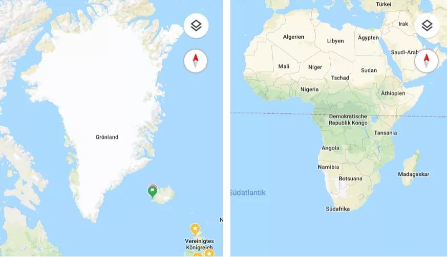 Erde ist bei Google Maps keine flache Scheibe mehr – das ist ... Ggooogle Maps on