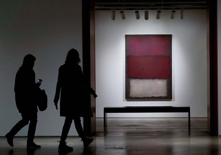 An untitled work by Mark Rothko is on display at the grand opening of Sotheby s newly-expanded & reimagined galleries and Impressionist & Modern Art and Contemporary Art auctions on May 03, 2019 in New York City. PUBLICATIONxINxGERxSUIxAUTxHUNxONLY NYP20190503150 JOHNxANGELILLO
