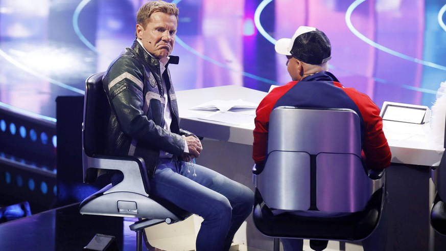 Dieter Bohlen und Pietro Lombardi in der dritten Live-Mottoshow der 16. Staffel der RTL-Castingshow Deutschland sucht den Superstar / DSDS 2019 im MMC Coloneum. Köln, 20.04.2019 *** Dieter Bohlen and Pietro Lombardi in the third live motto show of the 16 season of the RTL casting show Germany is looking for the superstar DSDS 2019 in the MMC Coloneum Cologne 20 04 2019 Foto:xC.xHardtx/xFuturexImage