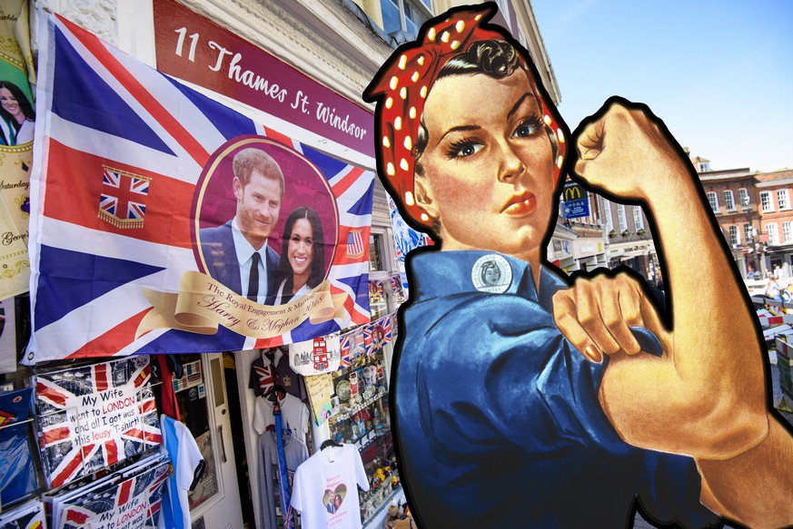 Royal Wedding - Windsor Stock Souvenirs celebrating the upcoming wedding of Prince Harry and Meghan Markle, in shops in Windsor, Berkshire. Picture date: Thursday April 5th, 2018. Photo credit should read: Matt Crossick/ EMPICS Entertainment. NONE PUBLICATIONxINxGERxSUIxAUTxONLY Copyright: xMattxCrossickx 35847865