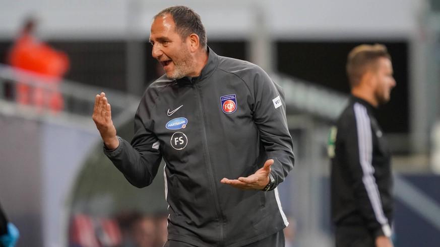 """Heidenheim-Trainer weist Reporter zurecht: """"Was für eine bescheuerte Frage"""""""