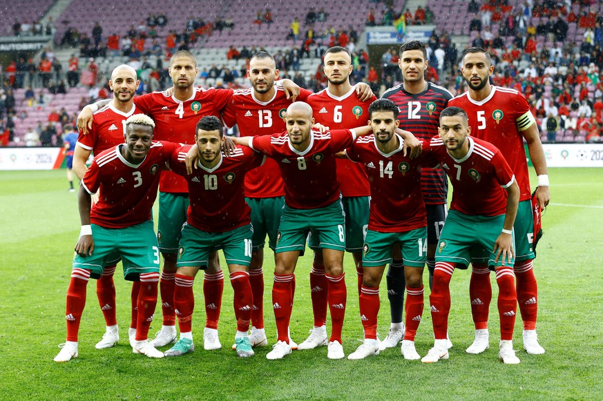 Soccer Football - International Friendly - Morocco vs Ukraine - Stade de Geneve, Geneva, Switzerland - May 31, 2018   Morocco team group   REUTERS/Denis Balibouse