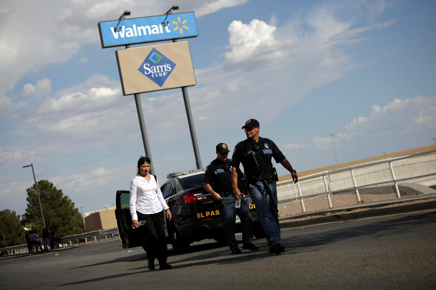 Police is seen after a mass shooting at a Walmart in El Paso, Texas, U.S. August 3, 2019. REUTERS/Jose Luis Gonzalez
