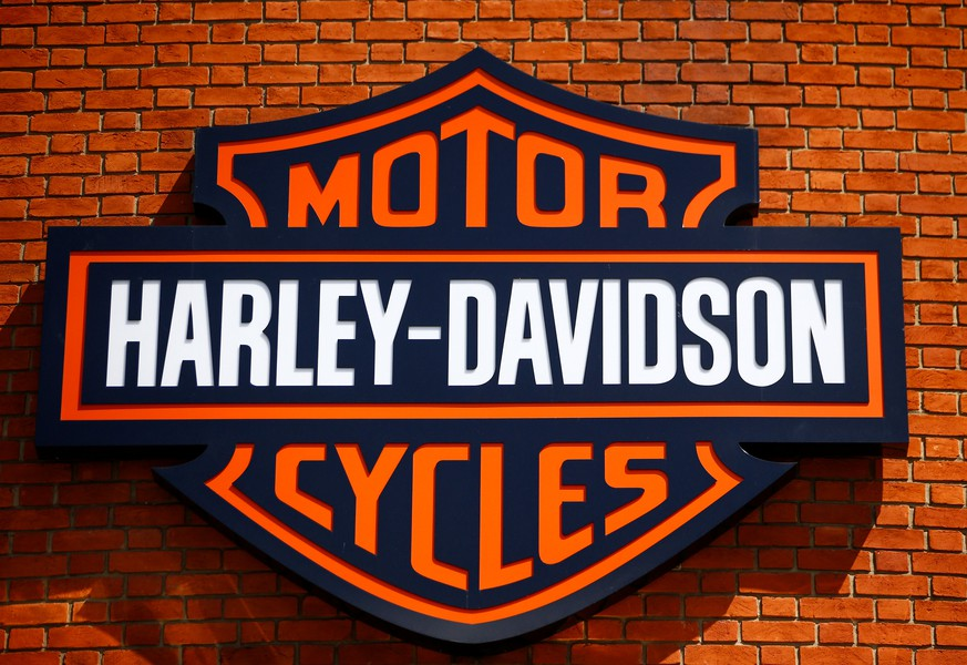 The Harley Davidson logo is seen at a showroom in London, Britain, June 22 2018. REUTERS/Henry Nicholls