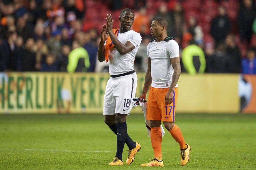 (L-R) Moussa Sissoko of France, Georginio Wijnaldum of Holland during the friendly match between Netherlands and France on March 25, 2016 at the Amsterdam Arena in Amsterdam, The Netherlands. Netherlands v France Friendly match 2015/2016 xVIxxIVx PUBLICATIONxINxGERxSUIxAUTxHUNxPOLxJPNxONLY 5216787