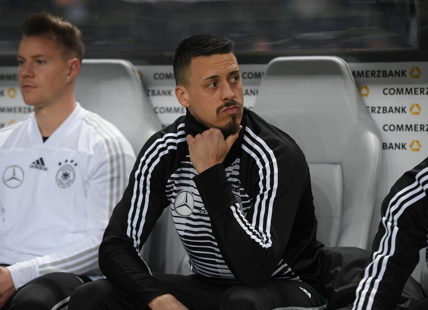 27.03.2018, Fussball Nationalmannschaft, Laenderspiel, Nationalteams, Deutschland - Brasilien 0:1, Sandro Wagner (Deutschland) *** 27 03 2018 National team National match Germany Brazil 0 1 Sandro Wagner Germany Team2