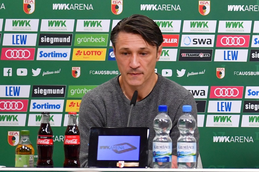 SOCCER - 1.DFL, Augsburg vs Bayern AUGSBURG,GERMANY,19.OCT.19 - SOCCER - 1. DFL, 1. Deutsche Bundesliga, FC Augsburg vs FC Bayern Muenchen. Image shows head coach Niko Kovac Bayern. Keywords: press conference, PK, Pressekonferenz . PUBLICATIONxINxGERxHUNxONLY GEPAxpictures/xUlrichxGamel