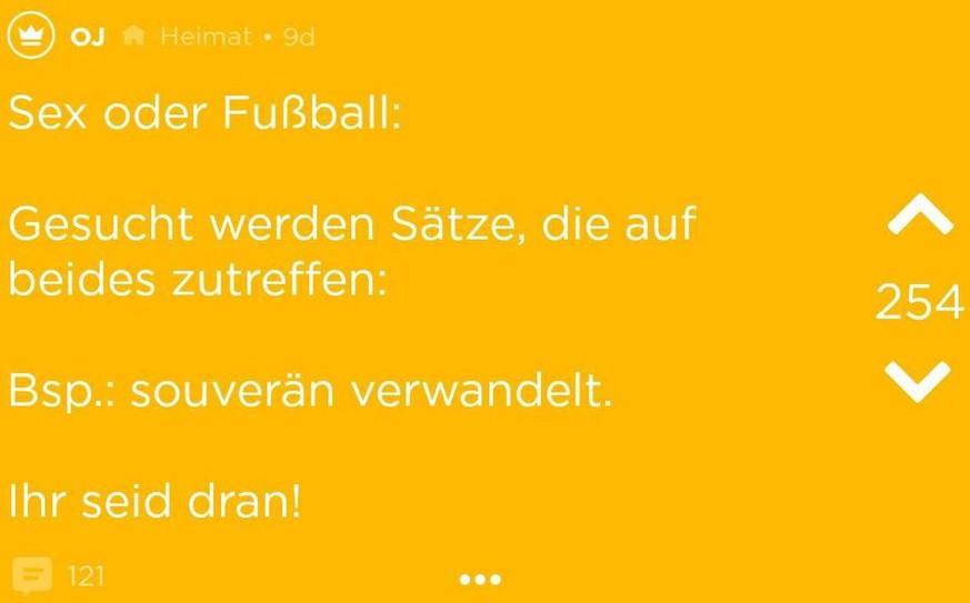 Jodel User Kommentieren Sex Mit Fußball Floskeln Watson