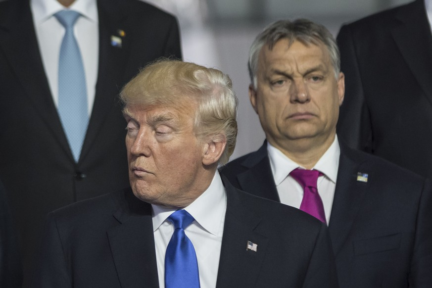 May 25, 2017 - Bruxelles, belgium - Donald Trump and Victor Orban at the NATO Summit 2017 |