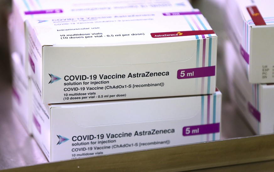 FILE - In this Jan. 2, 2021, file photo, doses of the COVID-19 vaccine developed by Oxford University and U.K.-based drugmaker AstraZeneca arrive at the Princess Royal Hospital in Haywards Heath, England. In recent days, countries including Denmark, Ireland and Thailand have temporarily suspended their use of AstraZeneca's coronavirus vaccine after reports that some people who got a dose developed blood clots, even though there's no evidence that the shot was responsible. The European Medicines Agency and the World Health Organization say the data available do not suggest the vaccine caused the clots. Britain and several other countries have stuck with the vaccine. ​(Gareth Fuller/Pool Photo via AP, File)