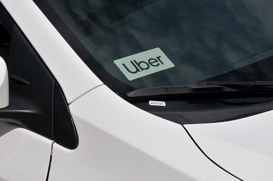 San Diego/california/ 25 September 2019/ Uber auto parked in old town the San Diego in Californina, United States of america. Photo..Francis Dean / Deanpictures. PUBLICATIONxNOTxINxDEN