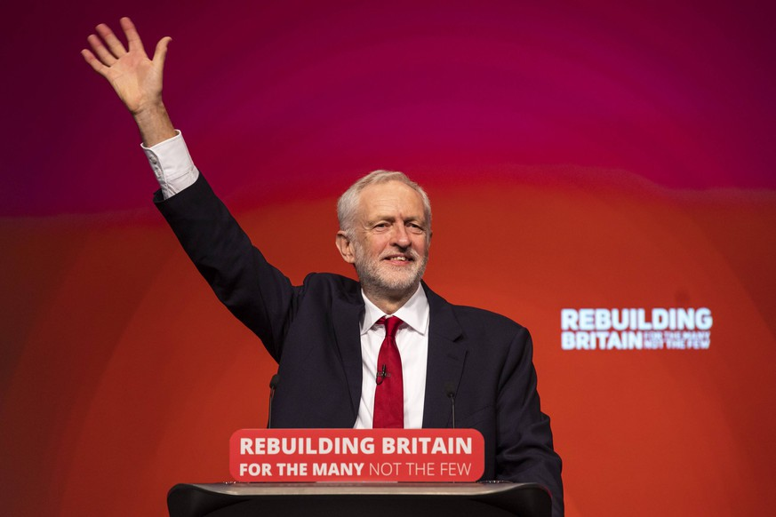 September 26, 2018 - Liverpool, Liverpool, UK - Liverpool, UK. Labour Party Leader Jeremy Corbyn delivers his closing speech at the Labour Party Conference. Liverpool UK PUBLICATIONxINxGERxSUIxAUTxONLY - ZUMAl94_ 20180926_zaf_l94_081 Copyright: xRobxPinneyx