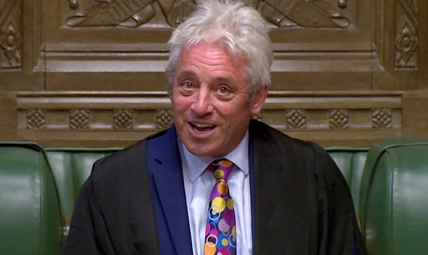 Speaker of the House of Commons John Bercow speaks in Parliament in London, Britain, September 9, 2019, in this still image taken from Parliament TV footage. Parliament TV via REUTERS