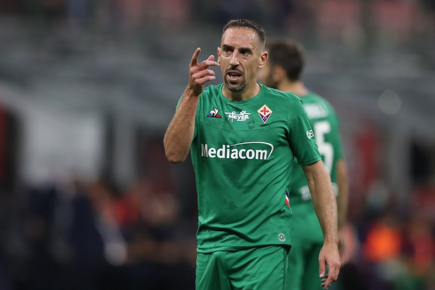 Franck Ribery of ACF Fiorentina during the Serie A match at Stadio Giuseppe Meazza, Milan. Picture date: 29th September 2019. Picture credit should read: Jonathan Moscrop/Sportimage PUBLICATIONxNOTxINxUK SPI-0226-0052