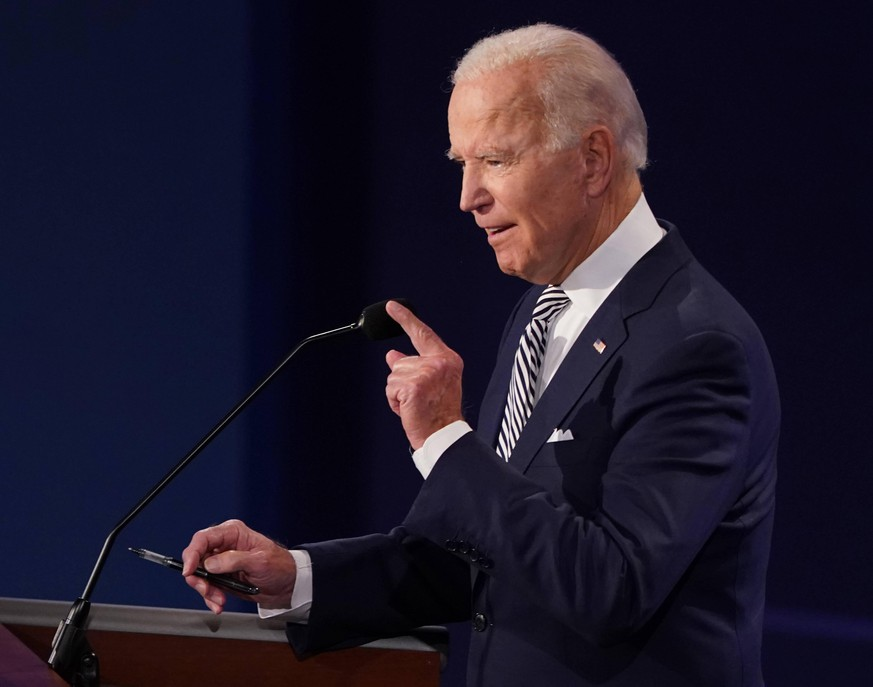 September 29, 2020, Cleveland, Ohio, USA: Democratic presidential nominee JOE BIDEN speaks during the first of three scheduled 90 minute presidential debates with President Donald Trump on Tuesday. Cleveland USA - ZUMAs152 20200929_zaa_s152_253 Copyright: xKevinxDietsch/Poolx
