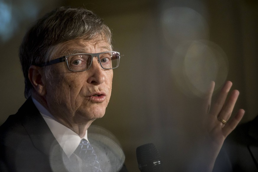 BELGIUM , BRUSSELS , Feb. 16 , 2017 - Former CEO of Microsoft and founder of the Bill & Melinda Gates Foundation Bill Gates pictured during the Shaping the world event in attendance of US business magnate Bill Gates organized by think tank Friends of Europe  PUBLICATIONxINxGERxSUIxAUTxHUNxONLY DannyxGys