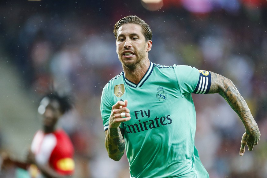 SOCCER - RBS vs Madrid, test match SALZBURG,AUSTRIA,07.AUG.19 - SOCCER - tipico Bundesliga, Primera Division, Red Bull Salzburg vs Real Madrid CF, test match. Image shows Sergio Ramos (Madrid). PUBLICATIONxINxGERxHUNxONLY GEPAxpictures/xJasminxWalter