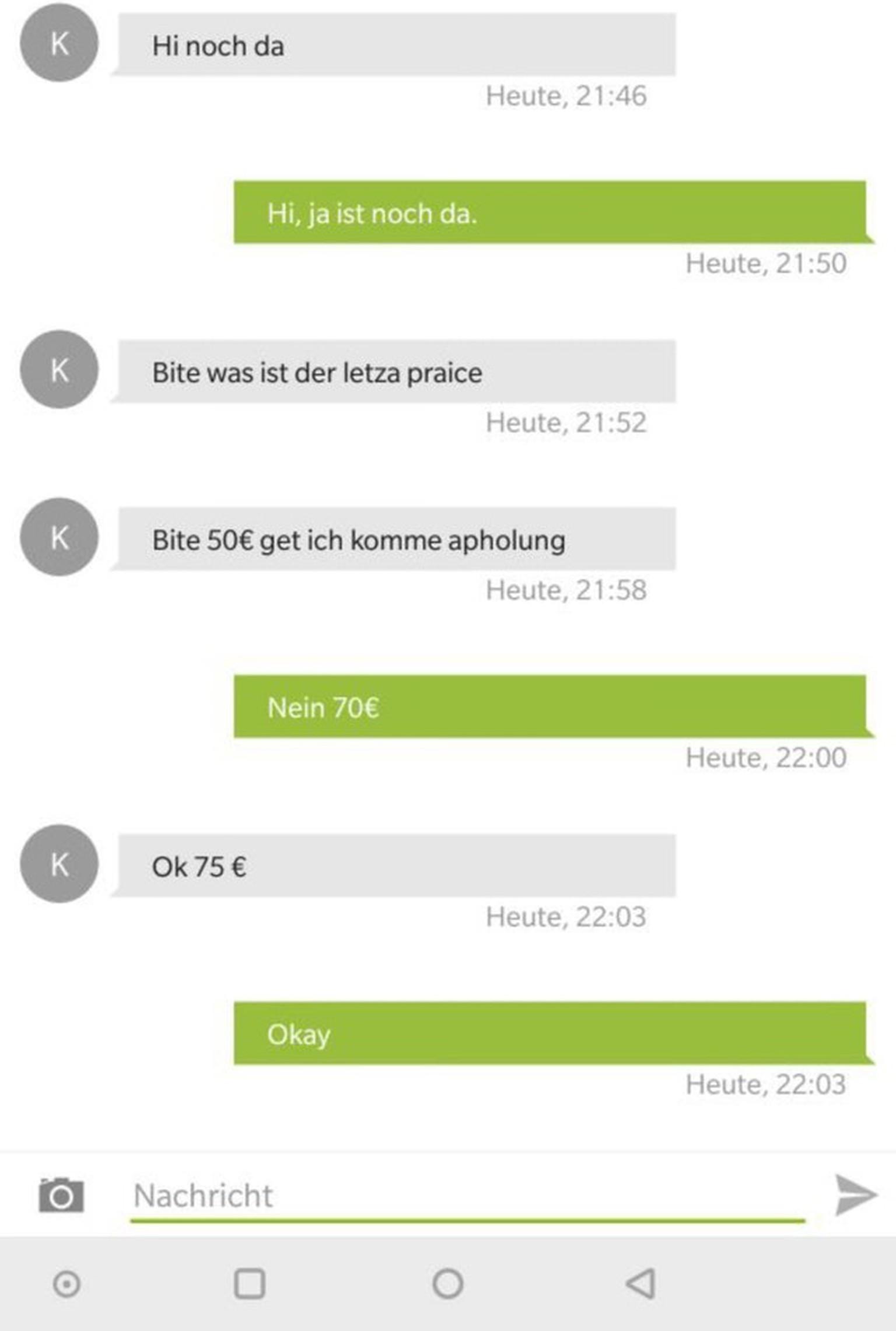 Ebay Kleinanzeigen Was Letzte Preis 19 Dumme Chats