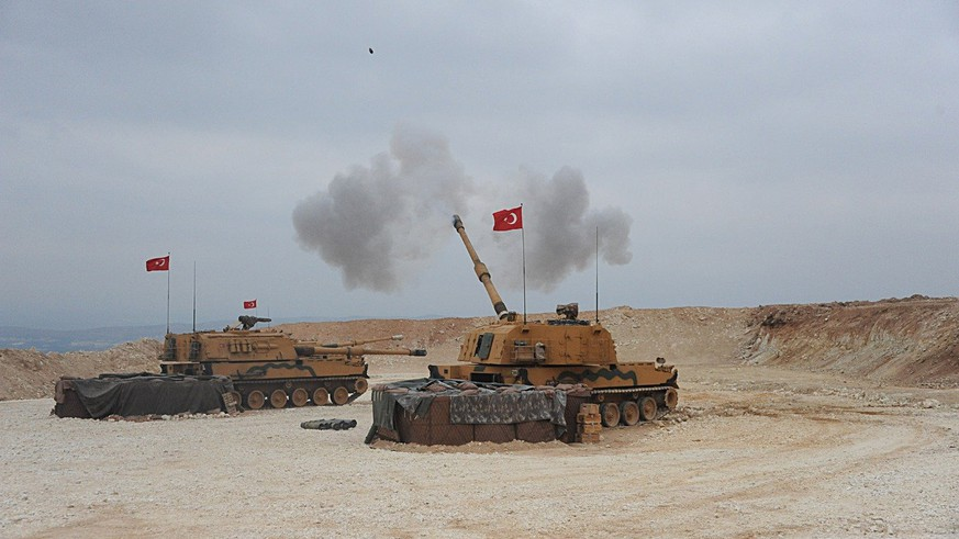 October 9, 2019, Turkey-Syria Border: Photo released by shows Turkish army launching a military operation into northern Syria on the Turkey-Syria border. Turkish Armed Forces on late Wednesday began a land operation into northern Syria against the Syrian Kurdish People s Protection Units. Turkey-Syria Border PUBLICATIONxINxGERxSUIxAUTxONLY - ZUMA 20191009intz03001 Copyright: xTurkishxDefensexMinistryx