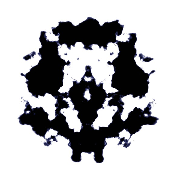 An illustration of a black and white Rorschach graphic McPGAN *** An illustration of a black and white Rorschach graphic McPGAN McPGAN