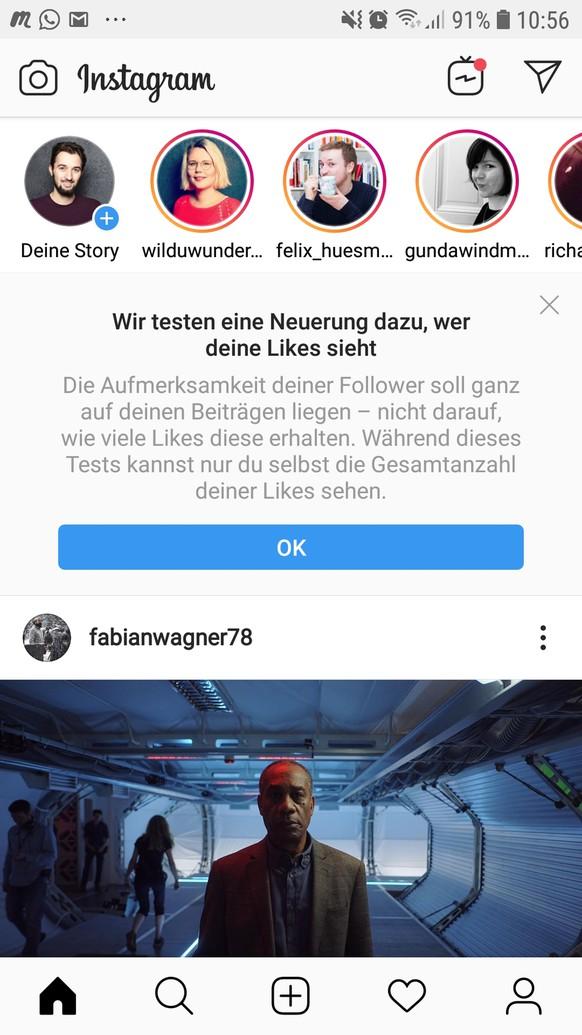 Instagram: Warum ich seit heute keine Likes mehr bekomme