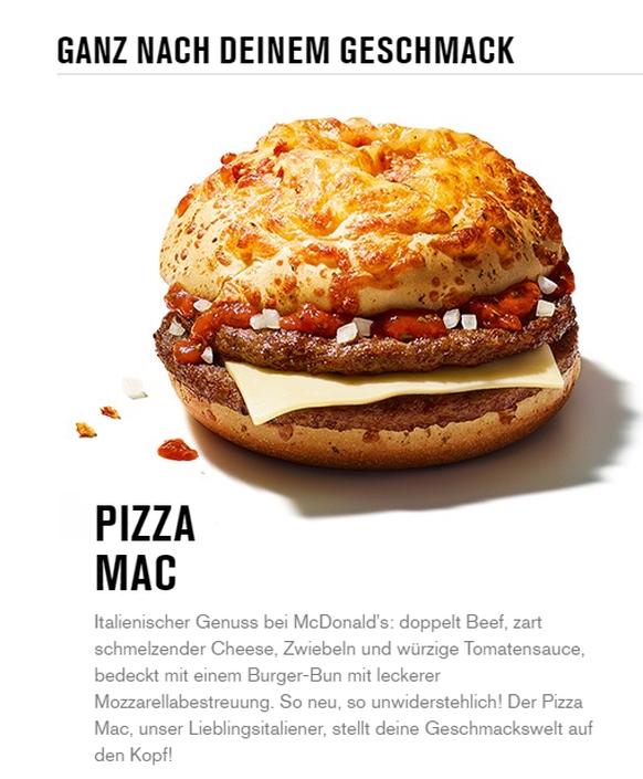 Mcdonalds Bringt Einen Pizza Burger An Den Start Und So Sieht Er