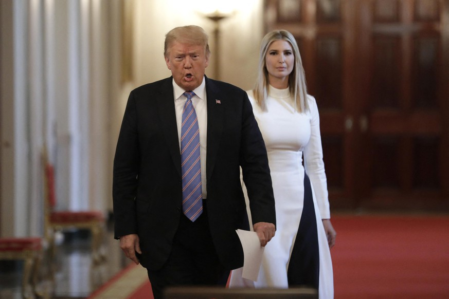 U.S. President Donald Trump with Ivanka Trump arrives to deliver remarks at the American Workforce Policy Advisory Board Meeting at the White House in Washington on June 26, 2020. Photo by Yuri Gripas/ABACAPRESS.COM |