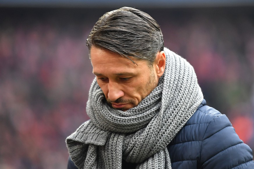 FC Bayern Muenchen trennt sich einvernehmlich von Niko KOVAC. Archivfoto: Niko KOVAC Trainer Bayern Muenchen blick nach unten, Enttaeuschung,Frust, enttaeuscht,frustriert,niedergeschlagen,. Einzelbild,angeschnittenes Einzelmotiv,Portraet,Portrait,Portr t. Fussball 1. Bundesliga, 10.Spieltag,Spieltag10, FC Bayern Muenchen M - SC Freiburg FR 1-1, am 03.11.2018 in Muenchen A L L I A N Z A R E N A, DFL REGULATIONS PROHIBIT ANY USE OF PHOTOGRAPHS AS IMAGE SEQUENCES AND/OR QUASI-VIDEO.  *** FC Bayern Muenchen separates amicably from Niko KOVAC Archivfoto Niko KOVAC Trainer Bayern Muenchen looks down, disappointment, frustration, disappointment, frustrated, dejected, single picture, cut single motif, portrait, portrait,Portr t Fussball 1 Bundesliga, 10 Spieltag,Spieltag10, FC Bayern Muenchen M SC Freiburg FR 1 1, on 03 11 2018 in Muenchen A L L I A N Z A R E N A, DFL REGULATIONS PROHIBIT ANY USE OF PHOTOGRAPHS AS IMAGE SEQUENCES AND OR QUASI VIDEO